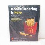 アドバタイジング・組織系  マクドナルド 並行輸入正規品 店内カウンター用 Mobile販促マットLサイズ