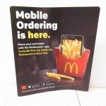 アドバタイジング・組織系  マクドナルド 並行輸入正規品 店内カウンター用 Mobile販促マットSサイズ
