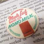 ミルクキャップ  ミルクキャップ ヴィンテージ Maple Leaf HOMO Milk 蓋