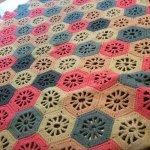 ベビーブランケット モチーフ編み 六角形 毛布