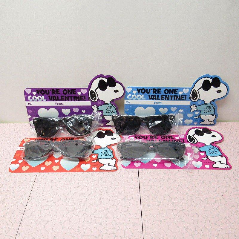 スヌーピー Joe Cool 日本未販売 バレンタインカード サングラス付き 未使用【画像2】