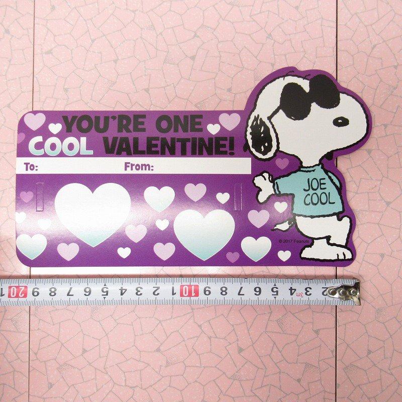 スヌーピー Joe Cool 日本未販売 バレンタインカード サングラス付き 未使用【画像11】