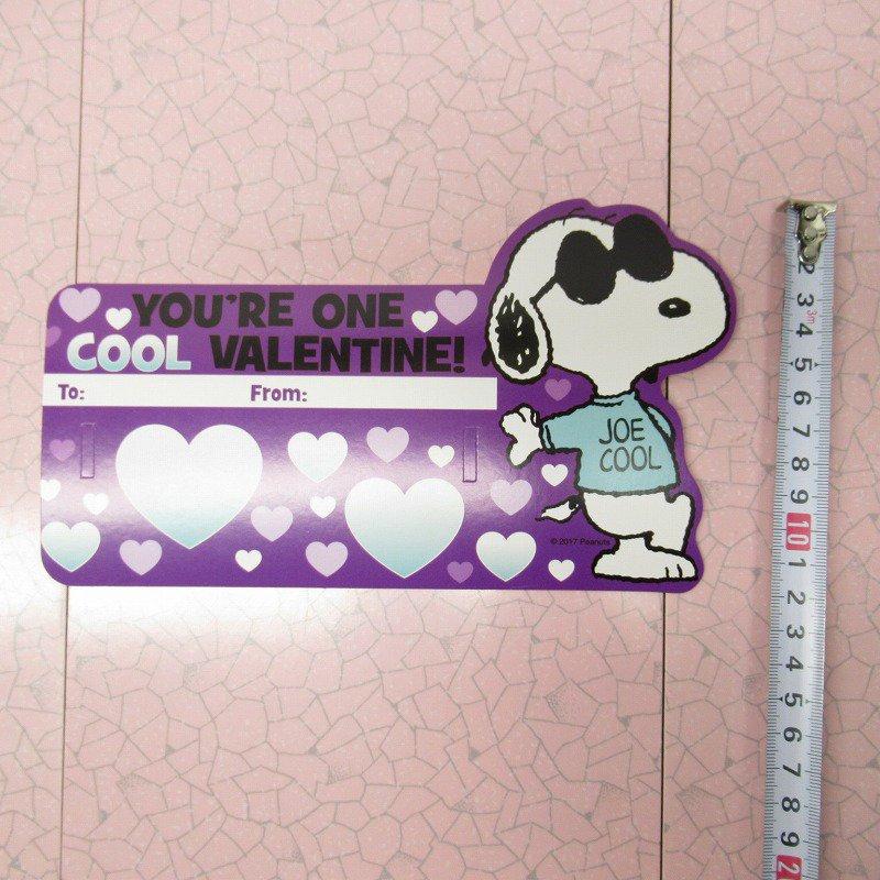 スヌーピー Joe Cool 日本未販売 バレンタインカード サングラス付き 未使用【画像12】