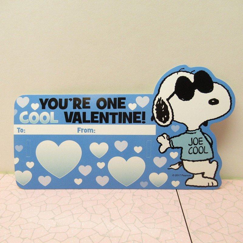 スヌーピー Joe Cool 日本未販売 バレンタインカード サングラス付き 未使用【画像3】