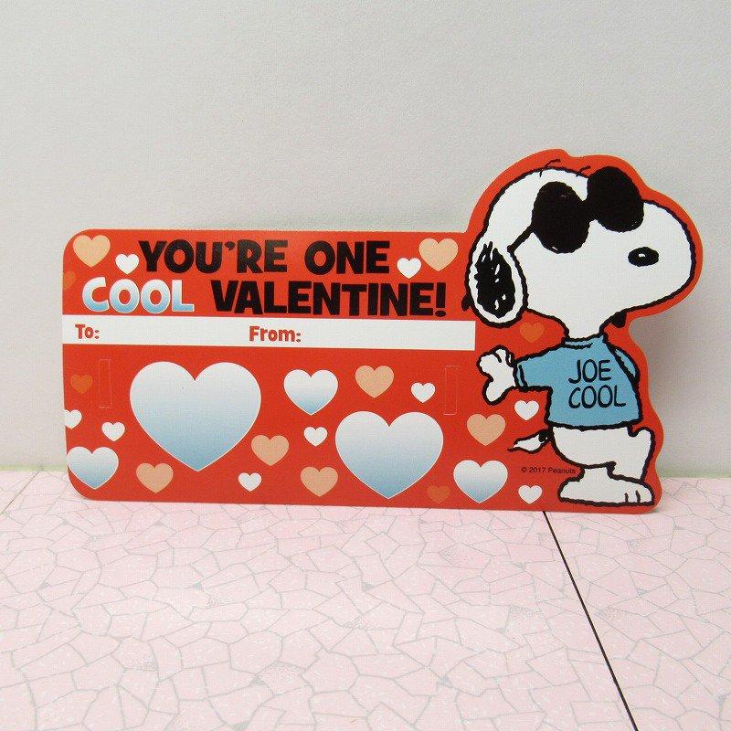 スヌーピー Joe Cool 日本未販売 バレンタインカード サングラス付き 未使用【画像4】