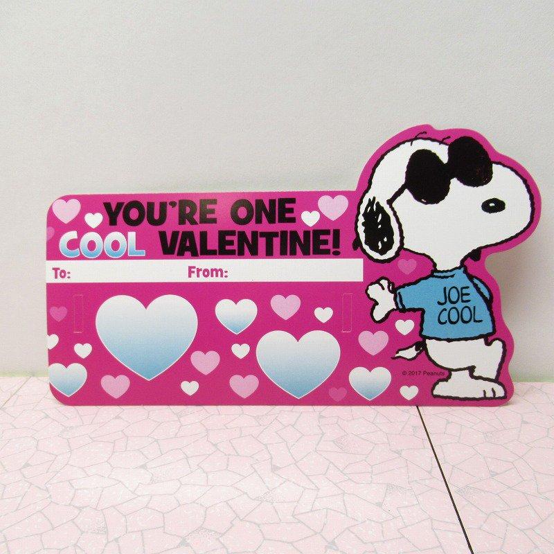 スヌーピー Joe Cool 日本未販売 バレンタインカード サングラス付き 未使用【画像5】