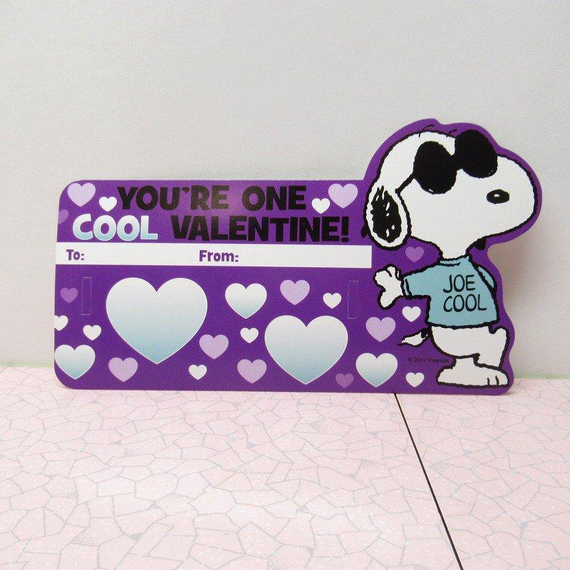 スヌーピー Joe Cool 日本未販売 バレンタインカード サングラス付き 未使用【画像6】