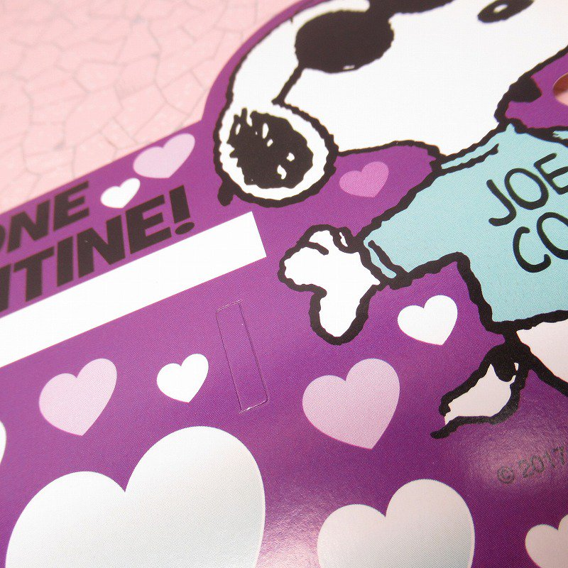 スヌーピー Joe Cool 日本未販売 バレンタインカード サングラス付き 未使用【画像7】