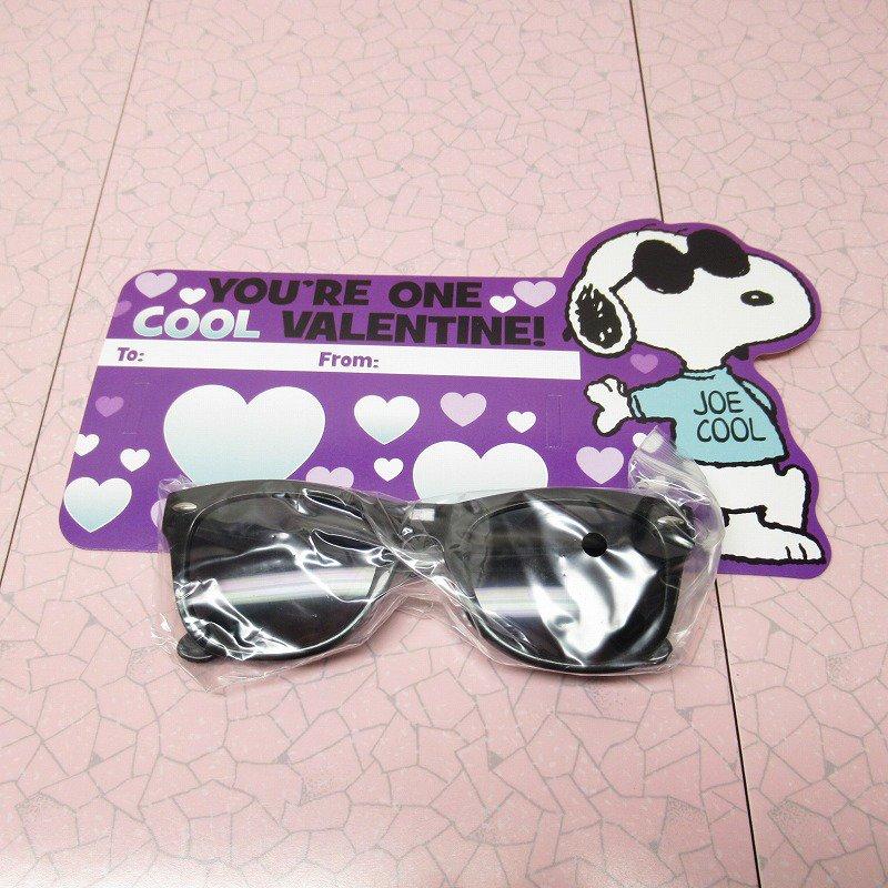 スヌーピー Joe Cool 日本未販売 バレンタインカード サングラス付き 未使用【画像9】
