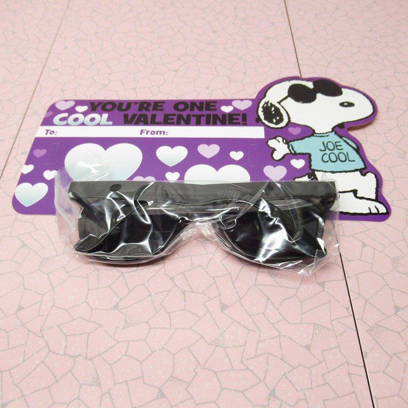 スヌーピー Joe Cool 日本未販売 バレンタインカード サングラス付き 未使用【画像10】