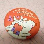 その他  バレンタイン 缶バッチ I'm in the MOOOOOD ホールマーク 1983年
