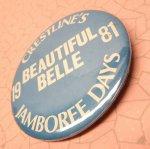 その他  缶バッチ 1981年 Beautiful Belle