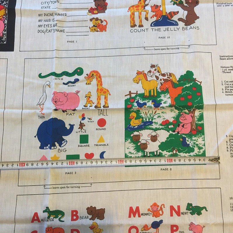 動物たちのお勉強 布製 絵本用 ファブリック【画像10】