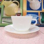 ファイヤーキング  ファイヤーキング ホワイト 1700ライン コーヒー カップ  & ソーサー A