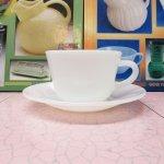 ファイヤーキング  ファイヤーキング ホワイト 1700ライン コーヒー カップ  & ソーサー B