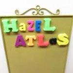ヴィンテージ雑貨  アルファベット マグネット HAZEL ATLAS