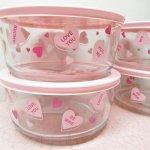並行輸入品パイレックス  パイレックス 7カップ 並行輸入品 保存容器 キャンディーハーツ