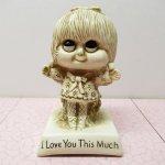 バレンタイン  メッセージドール I Love You This Much 1975年