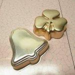 ケーキ作りアイテム  お菓子の型 アルミ製 コッパーカラー ベル&クローバー 2個セット