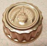 ケーキ作りアイテム  お菓子の型 アルミ製 コッパーカラー どんぐりB