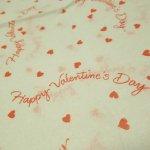 バレンタイン  ラッピングペーパー バレンタイン 薄紙 3枚セット
