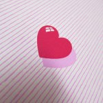 バレンタイン  ラッピングペーパー レッドハート&ストライプ