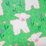 その他  ラッピングペーパー 草原と羊