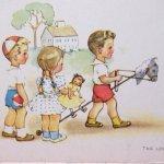 未使用  ポストカード Little Friend 1940~50年代