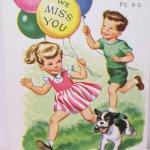 未使用  ポストカード Love to You 1940~50年代