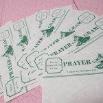 未使用  メモカード 1980年代 新聞風 Prayer Gram 8枚セット