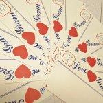 未使用  メモカード 1980年代 新聞風 Love Gram 10枚セット