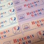 未使用  メモカード 1980年代 新聞風 Birthday Gram 13枚セット