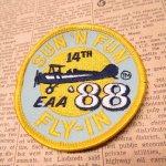 オート&ツール&ガレージ&乗り物系全般  ワッペン SUN 'N FUN 1988年 飛行機