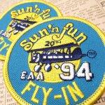 オート&ツール&ガレージ&乗り物系全般  ワッペン SUN 'N FUN 1994年 飛行機
