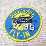 オート&ツール&ガレージ&乗り物系全般  ワッペン SUN 'N FUN 1995年 飛行機