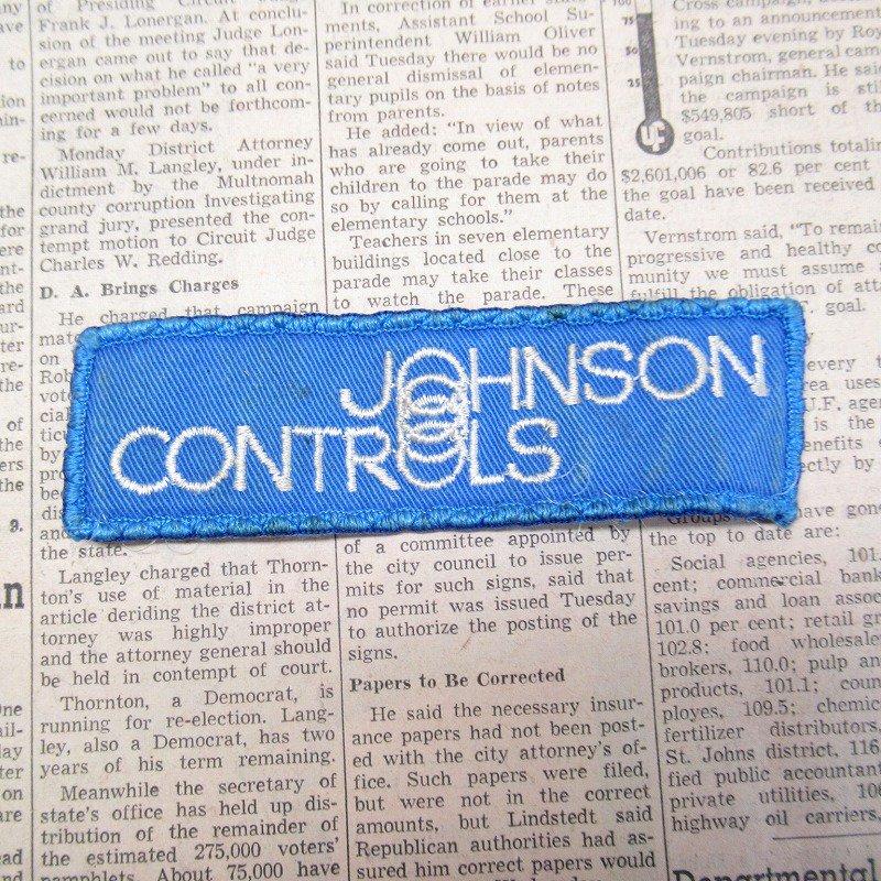 ワッペン Johnson Controls 青 長方形【画像2】