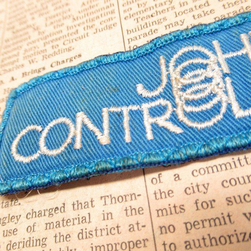ワッペン Johnson Controls 青 長方形【画像3】