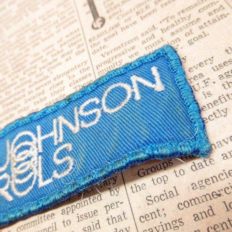 ワッペン Johnson Controls 青 長方形【画像4】