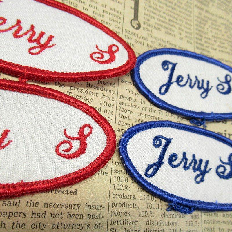 ワッペン ネームタグ Jerry S 各種