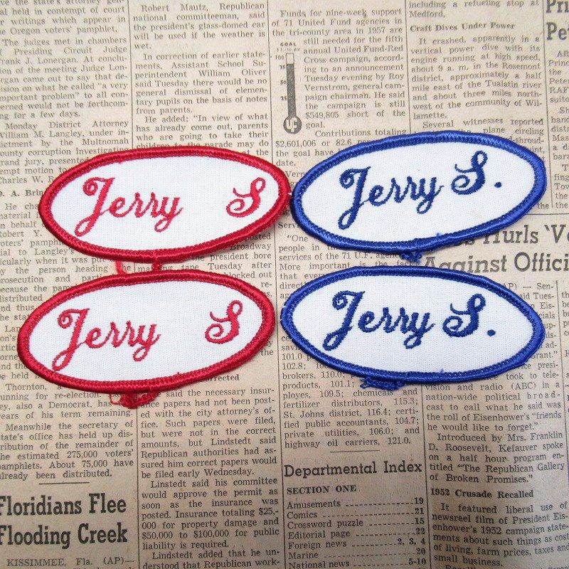 ワッペン ネームタグ Jerry S 各種【画像2】