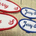 オート&ツール&ガレージ&乗り物系全般  ワッペン ネームタグ Jerry S 各種