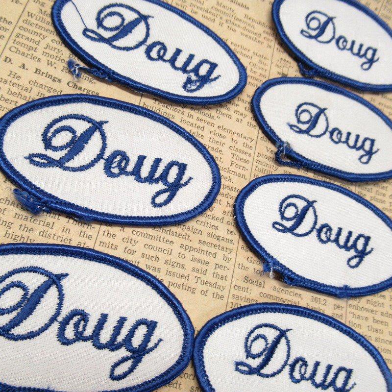 ワッペン ネームタグ Doug 各種