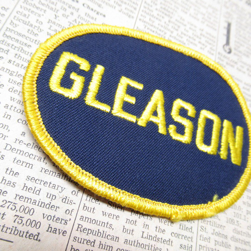 ワッペン ネームタグ GLEASON