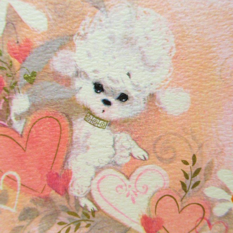 バレンタインカード Secret Pal ホワイトプードル【画像2】