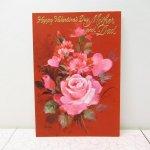 バレンタイン  バレンタインカード カーネーション&ピンクローズ Mother & Dad