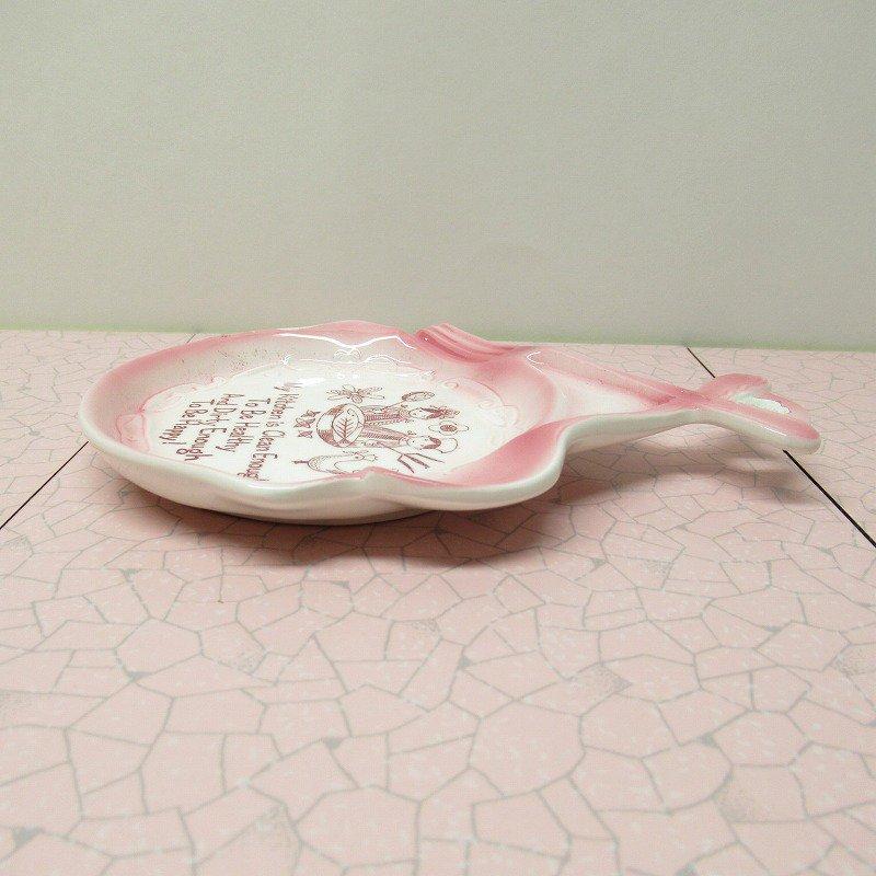 スプーンレスト 壁掛け ピンクキッチン 米国輸出用日本製 ラベル付【画像3】