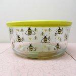 現行品・ガラス商品  パイレックス 7カップ 並行輸入品 保存容器 Bee Happy