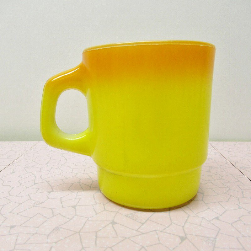 ファイヤーキング ノースウエスタンバンク マグ オレンジ&黄色 C【画像3】