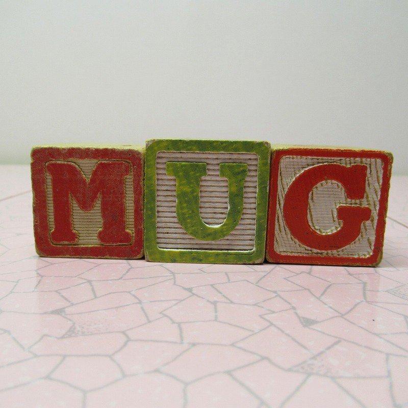 アルファベットブロック 木製 MUG【A】【画像2】