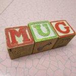 アルファベットブロック 木製 MUG【A】